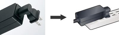 ACアダプタ用直結プラグの使用例
